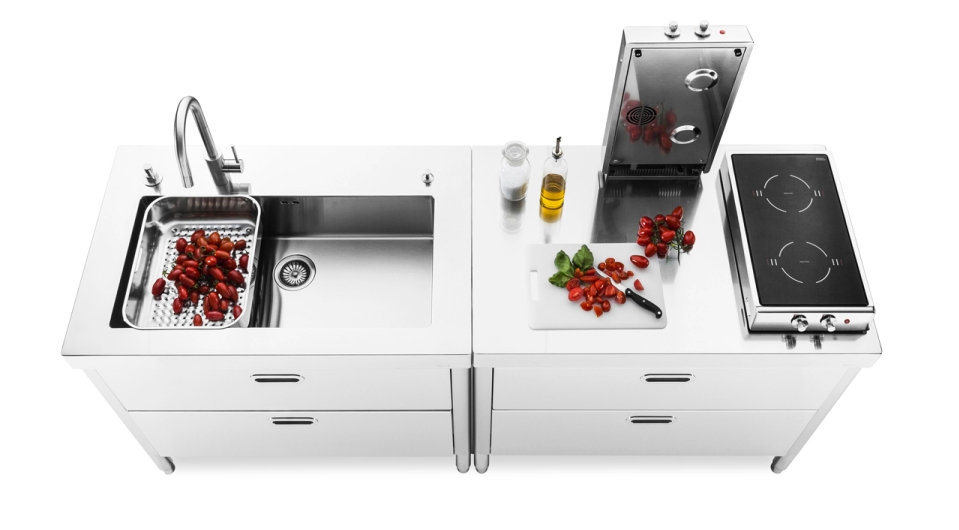 Alpes Inox's Stainless Steel Kitchen Modules