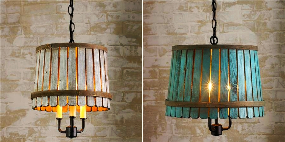 Bushel Basket Pendant Lamp