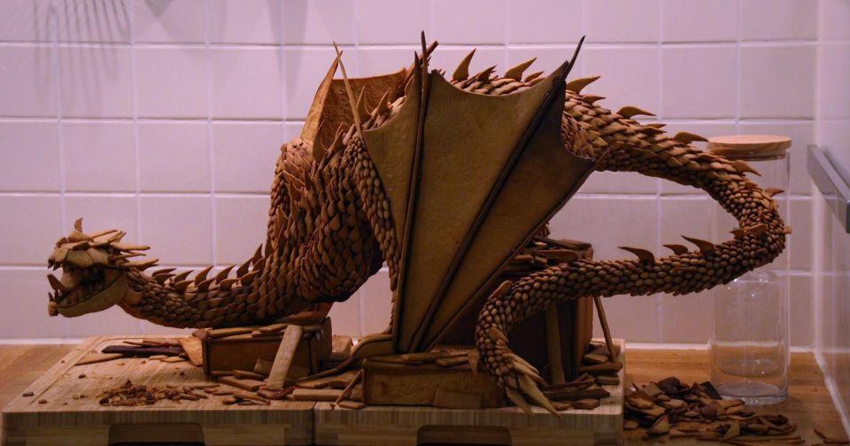 Hobbit-themed Edible Gingerbread Smaug Cake
