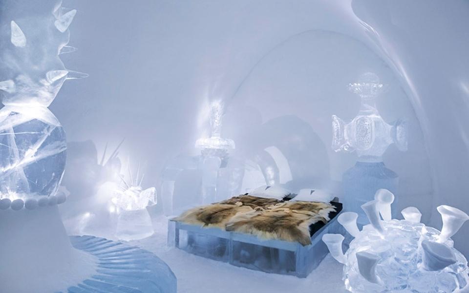 IceHotel in Jukkasjarvi, Sweden