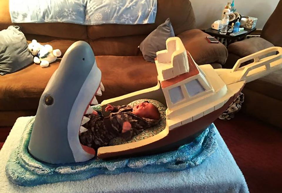 Jaws Baby Crib by Joseph Reginella