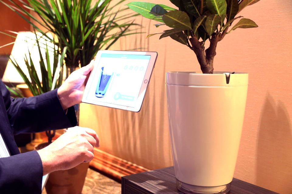 Parrot Pot and H2O Smart Sensors for Watering Plants