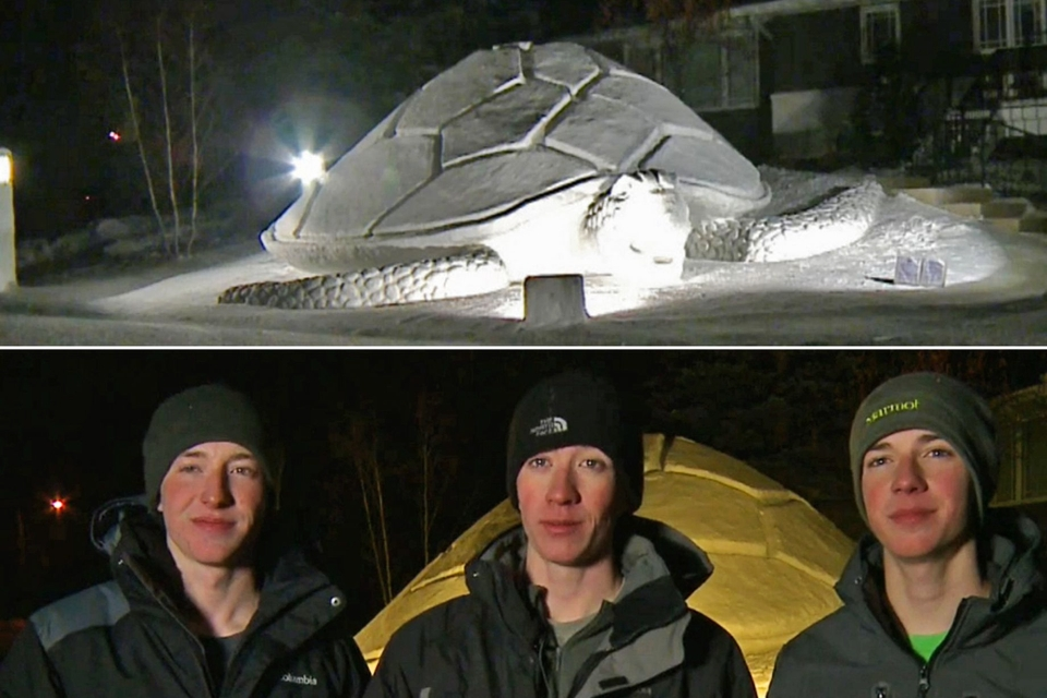 Spectacular Snow Sculptures by Minnesota Brothers