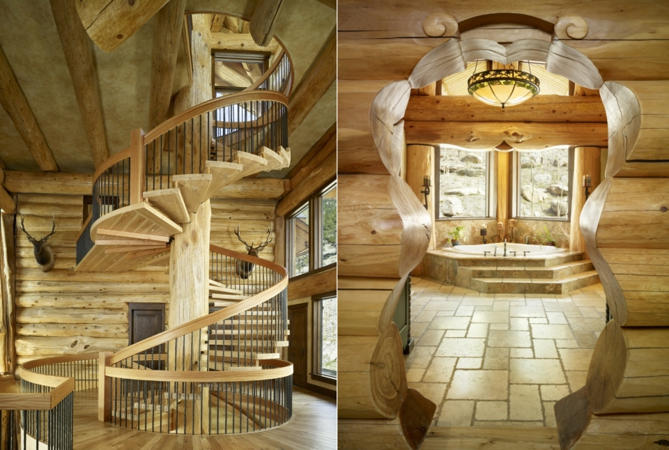 Dramatic Log Residence in Colorado by Kathy Scott