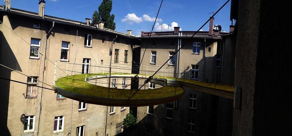Floating Coiled Walkway by Zalewski Architecture