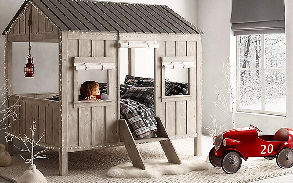 Fort-like Cabin Bed by Restoration Hardware Baby and Child