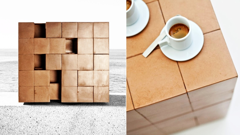Rubik's cube-inspired Puzzle Table by A2OFFICE