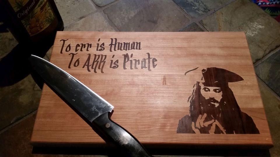 Pirate cutting board