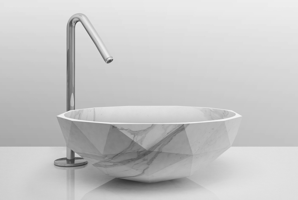 Diamond Washbasin by Paolo Ulian and Moreno Ratti