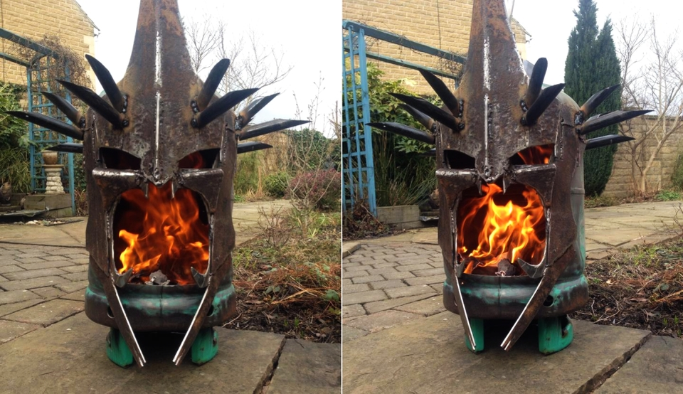 Fire Pit Resembles Witch-King of Angmar's head from The Lord of the Rings
