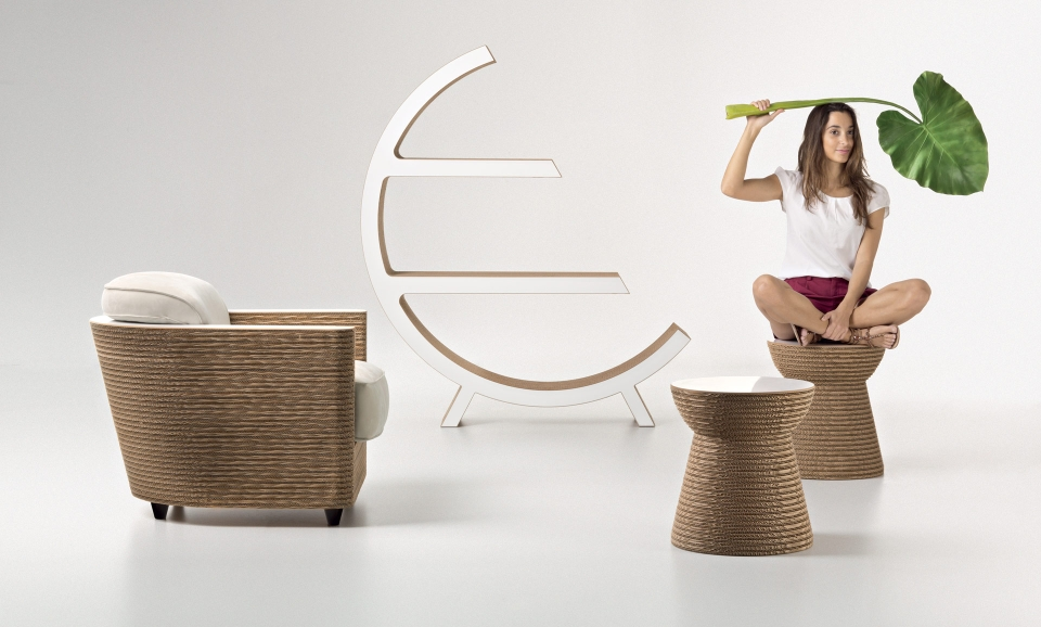 Fuorisalone 2015 Staygreen 'Colours' furniture collection made from carton