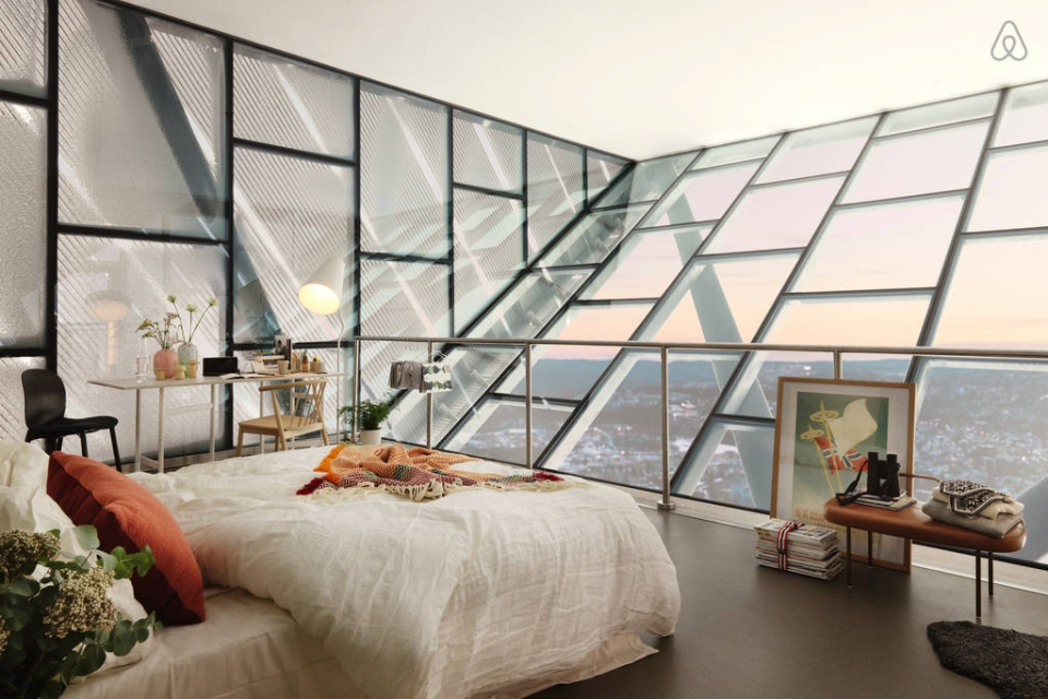 Sky-high Glass Penthouse AtoHolmenkollen Ski Jump