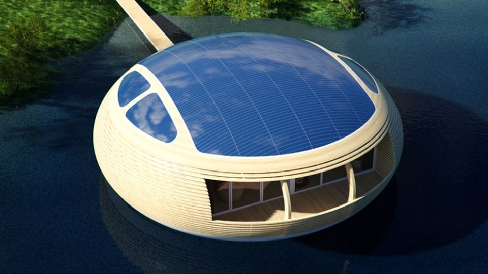 WaterNest 100 Floating Home by Giancarlo Zema