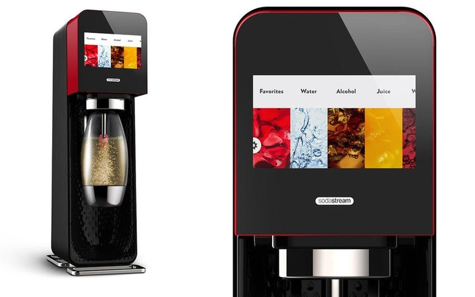 Bluetooth-connected SodaStream Mix by Yves Behar