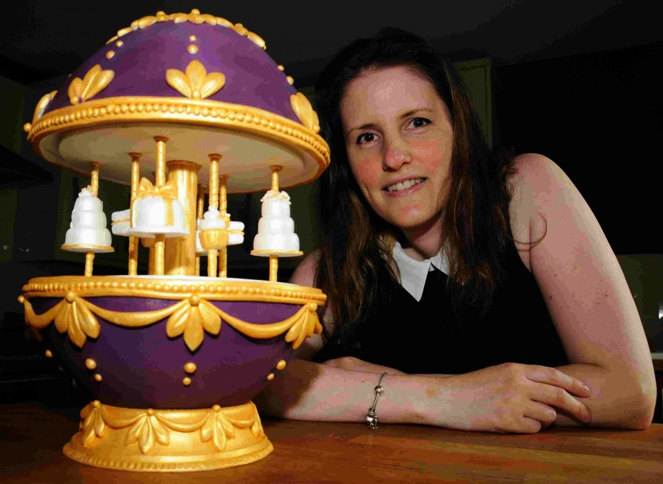 Faberge-inspired Easter Egg made out of Cake