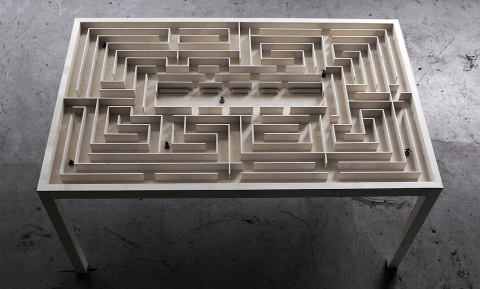 Labyrinth Dining Table by Benjamin Nordsmark