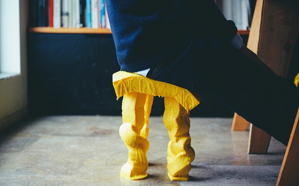 Milan Furniture Fair 2015- Satsuki Ohatas' sponge stool inspired by fondue