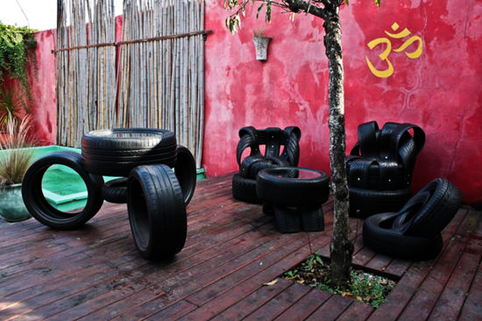 Nine ingenious furniture pieces made from recycled tires