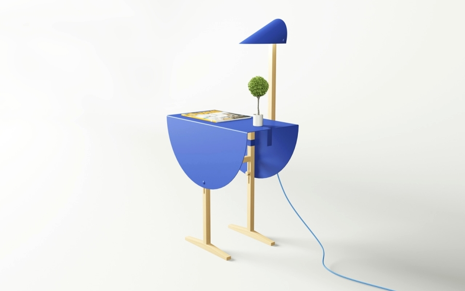 Ostrich Side Table by Mario Tsai
