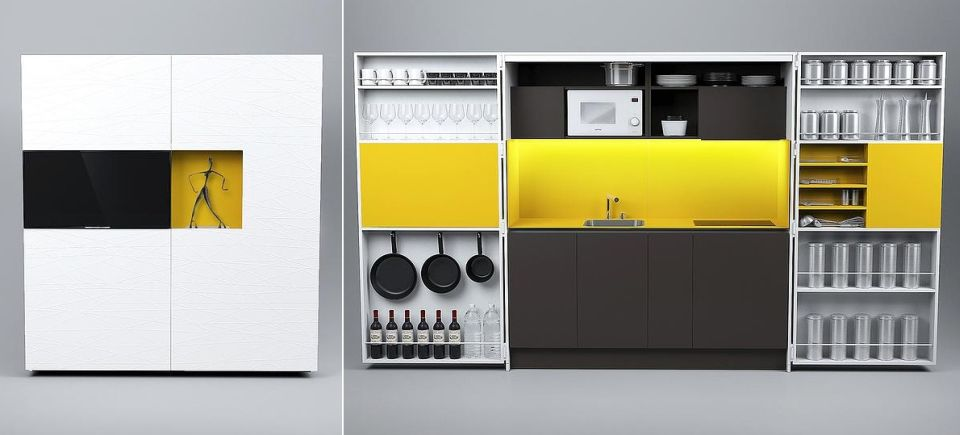 Pia Pop-up kitchen by Dizzconcept