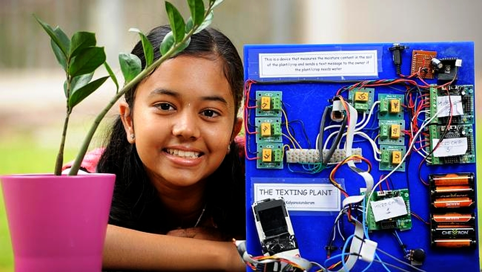 Texting Plant by Australian Science and Mathematics student Kaviya Kalyanasundaram