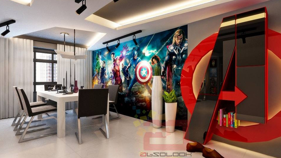 Avengers-themed Apartment