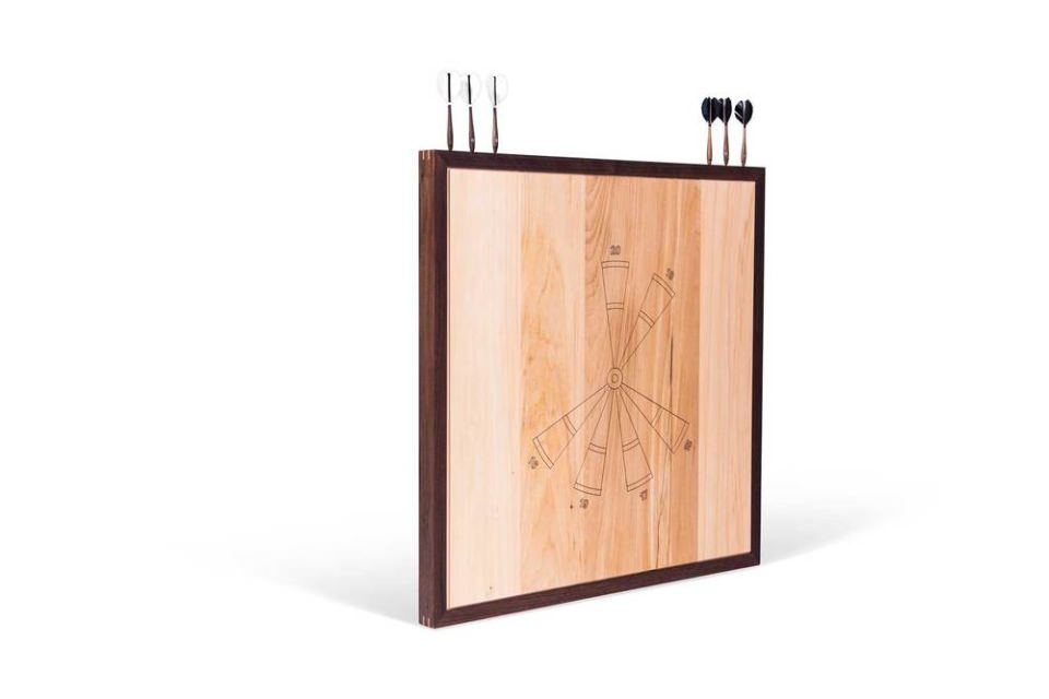 Cricket Dart frames are made from American Walnut and the board is made from Basswood