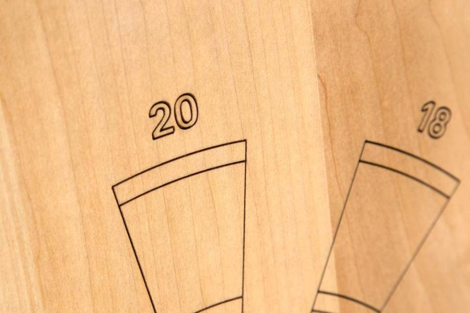The numbers are etched with laser, to give it a clean  finish