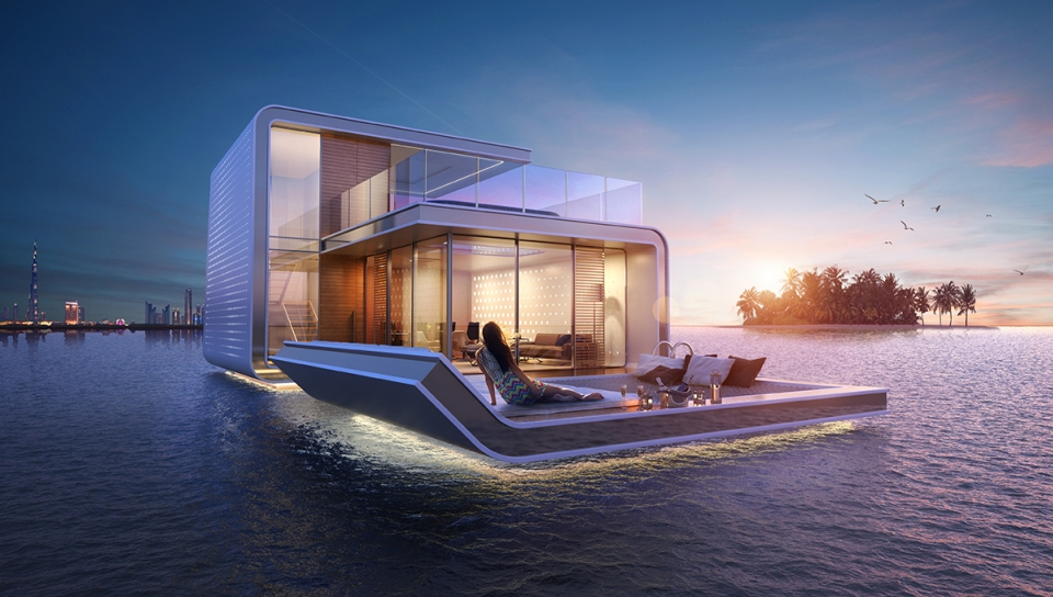 Floating Seahorse homes by Kleindienst Group