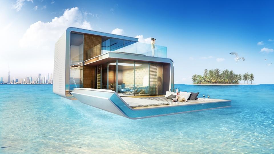 Floating Seahorse homes by Kleindienst Group