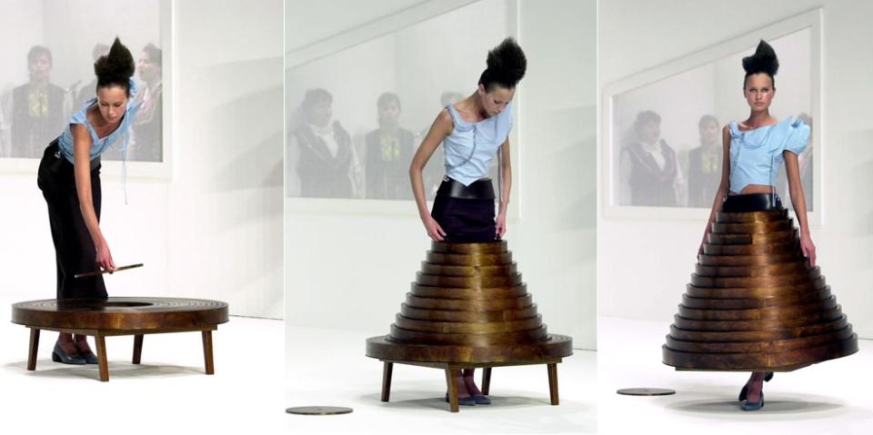 Hussein Chalayan wearable furniture