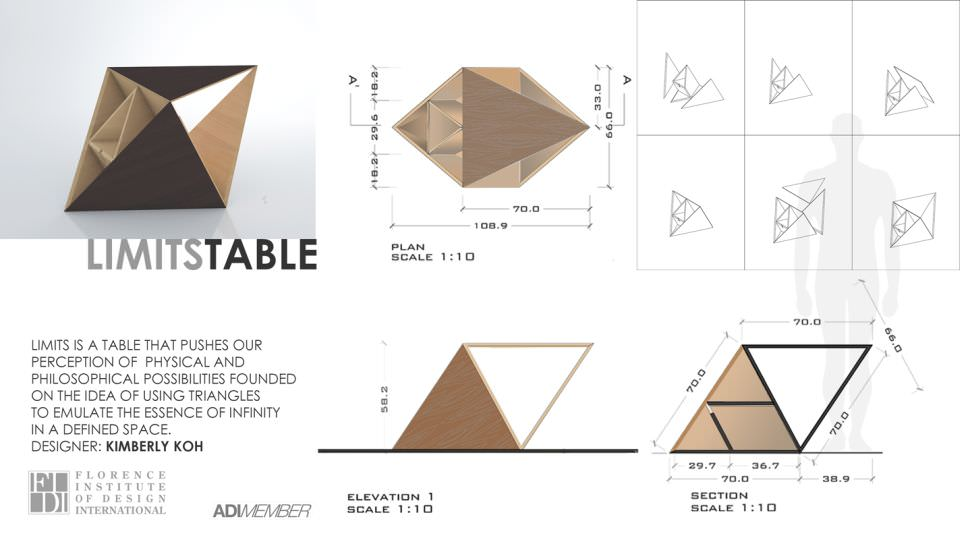The design of Limit Coffee Table