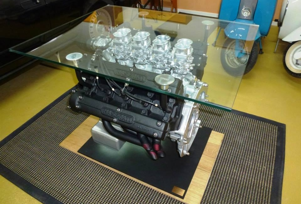 Maserati's 4.9-liter V8 engine coffee table