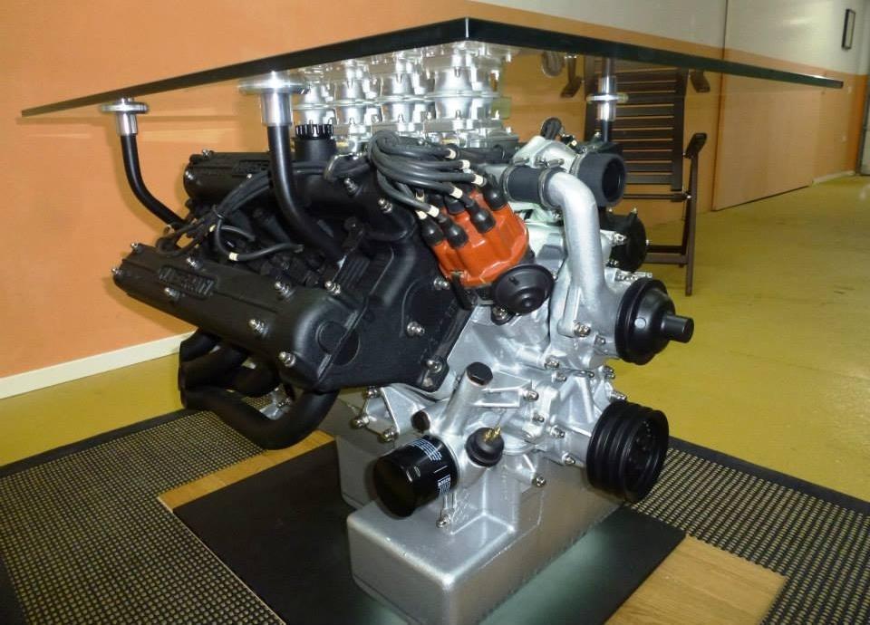 Maserati's 4.9-liter V8 engine coffee table