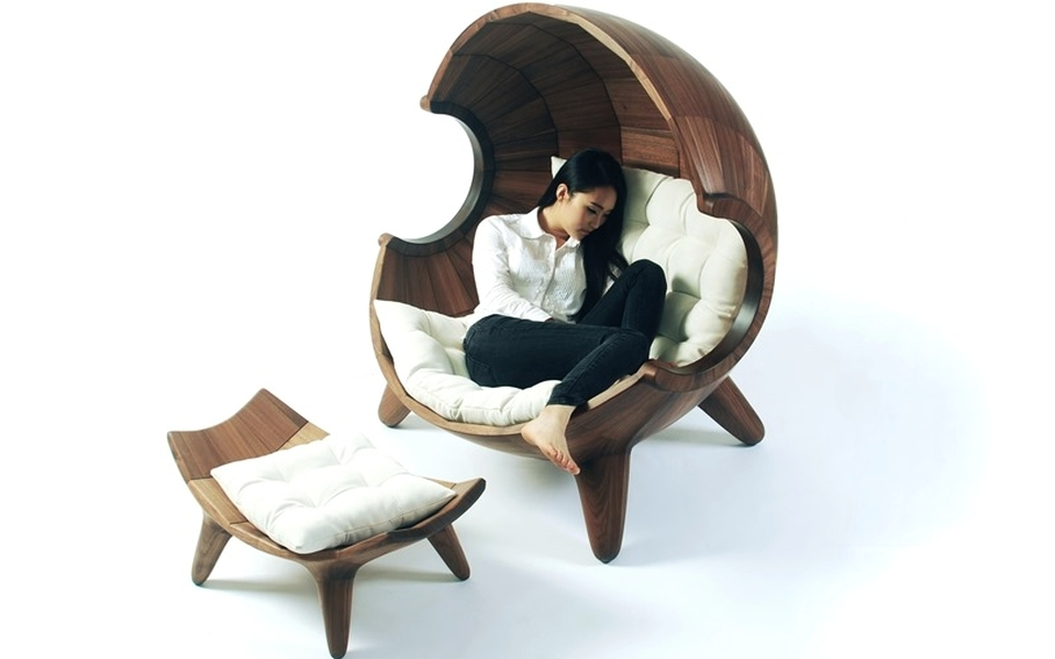 Segment Chair with Ottoman by Sae-rom Yoon
