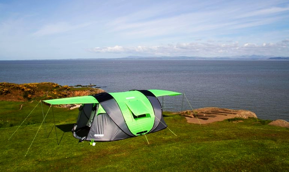 Solar-powered Cinch Pop-up Tent