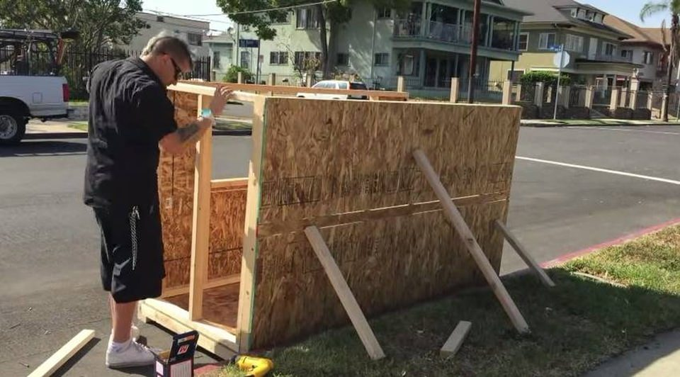 It took five days and $500  to complete the Tiny House