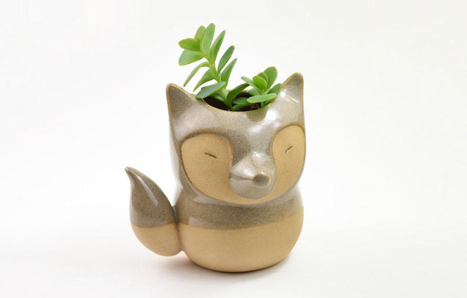 Animal-themed ceramic pots