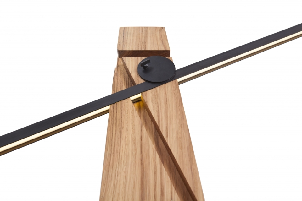 Thick wooden stand comes with three precise cuts to fix light element into any carved pattern