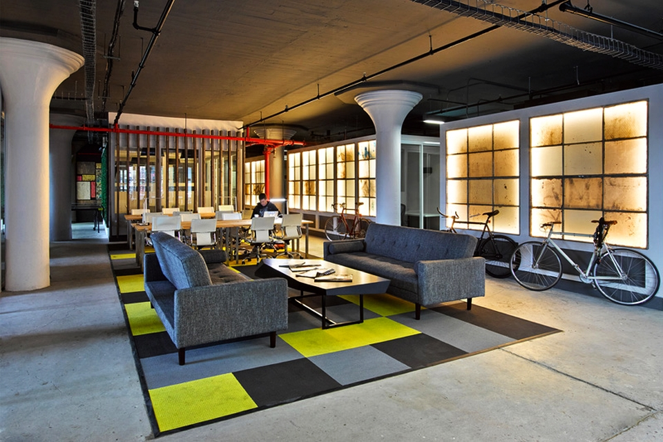 Brooklyn factory into chic co-working office by STUDIOSC