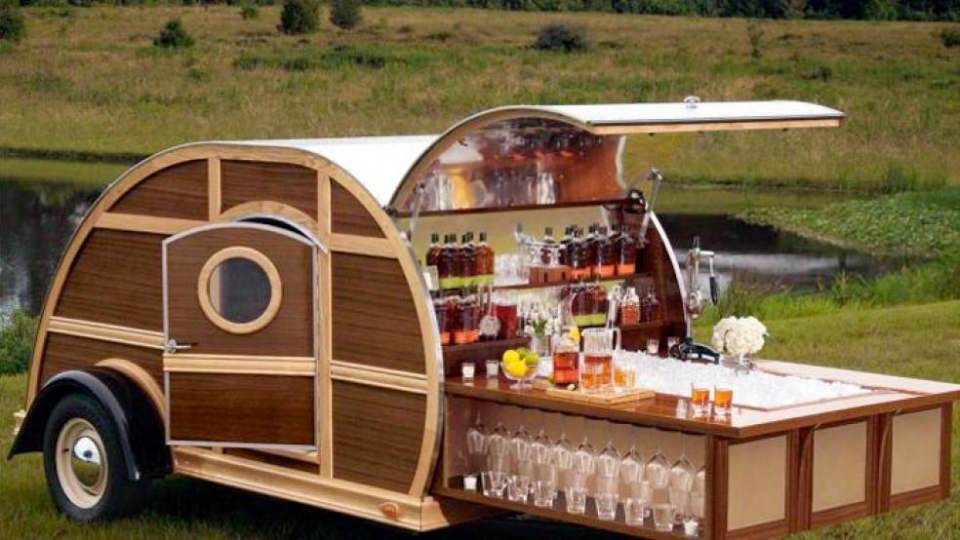 Bulleit Frontier Whiskey Woody Trailer