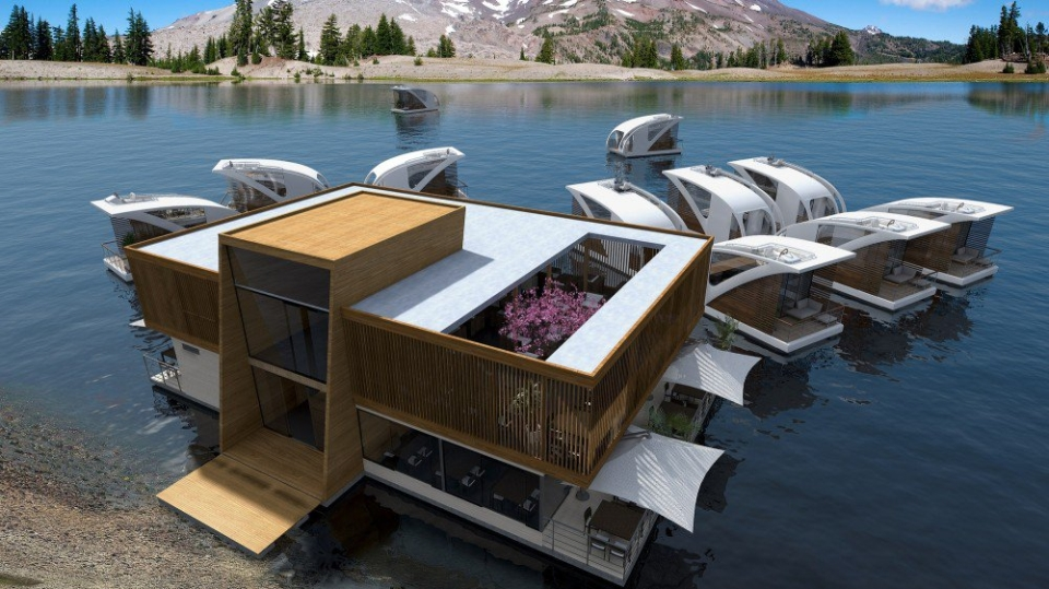 Floating Hotel with catamaran apartments by Salt&Water Desin Studio