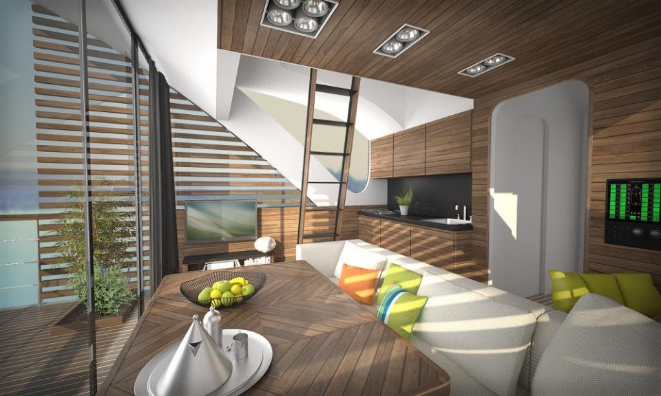 Floating Hotel with catamaran apartments by Salt&Water Desin Studio