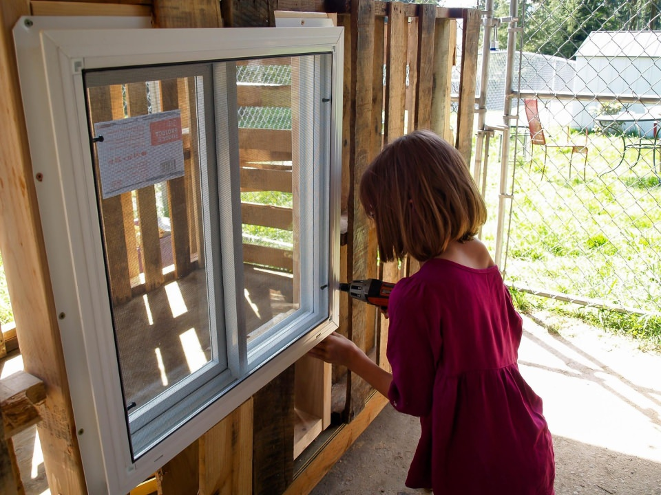 Windows to provide ventilation during summer times