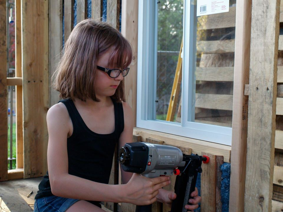 Hailey is skilled to work with power tools like electric drills or nail guns