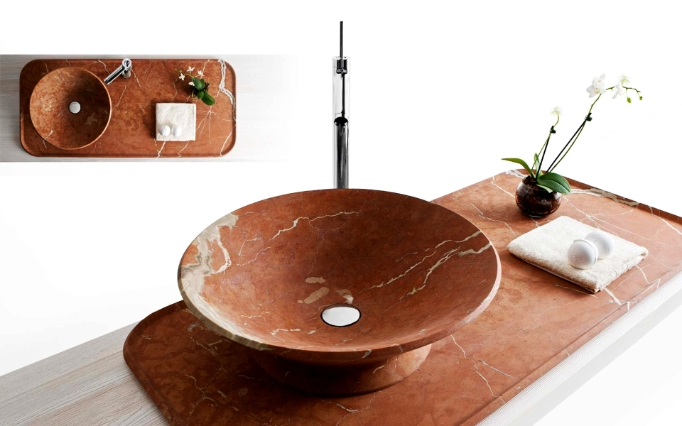Nabhi bowl-tray sink by Enzo Berti for Kreoo