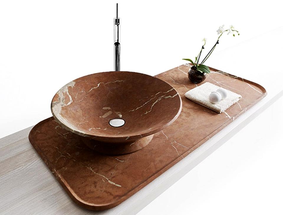 Nabhi bowl-tray sink by Enzo Berti for Kreoo