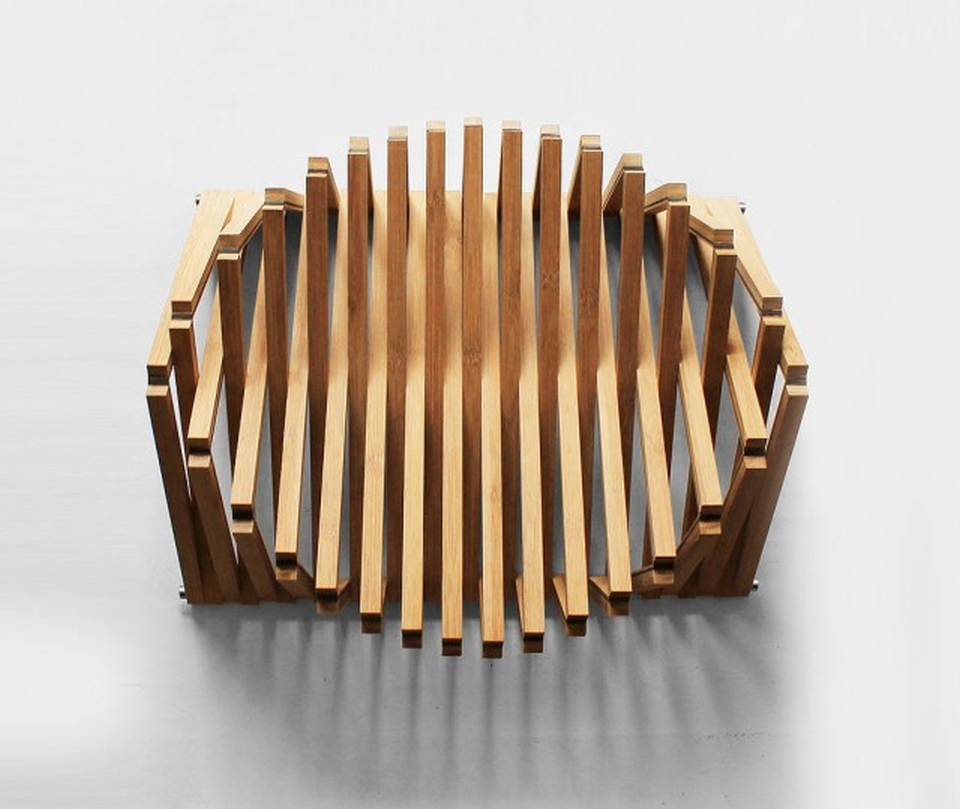 The chair is made from Bamboo Caramel