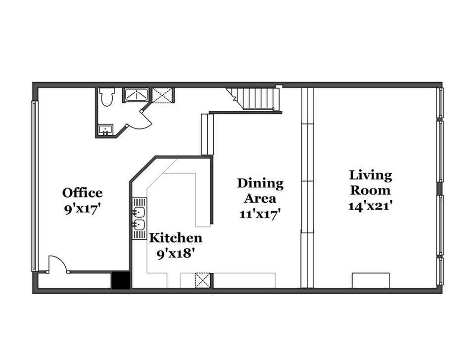 The Main floor plan