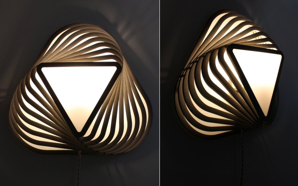 TWIK triangular wall lamp by Moeko